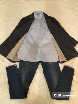 Комплект рубашка Massimo Dutti, размер S+ Джинсы Miss Sixty, размер 26