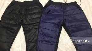 Пуховые штаны, размер на рос 42-44. Черные