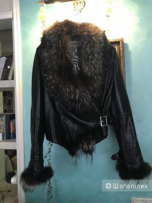Кожаная куртка Safissimo, размер 46-48 ( российский)