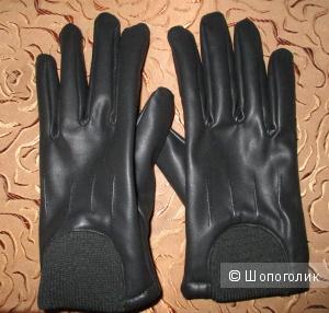Кожаные перчатки 42-46 размер  Zolla