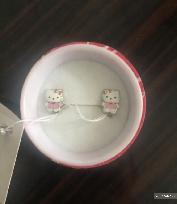 Серьги Hello kitty