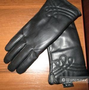Кожаные перчатки 42-44 размер м  Zolla