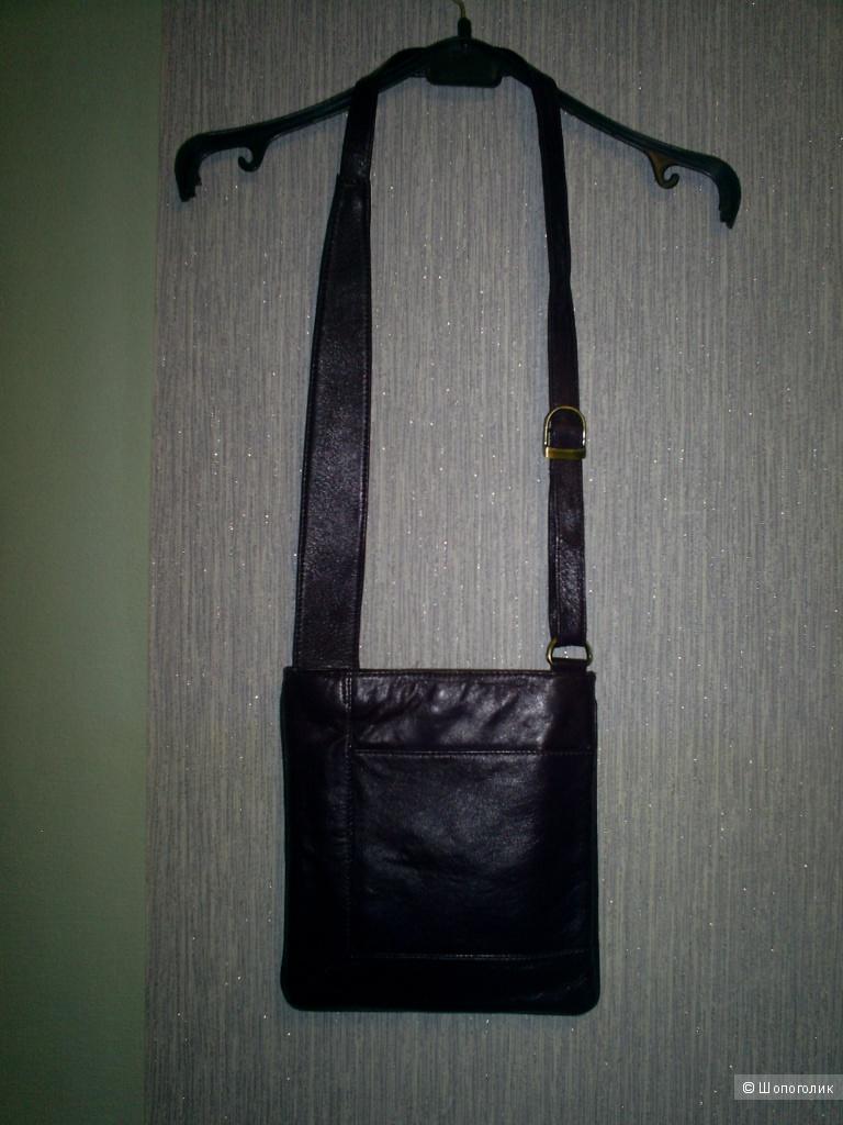 Кожаная сумка кросс-боди.