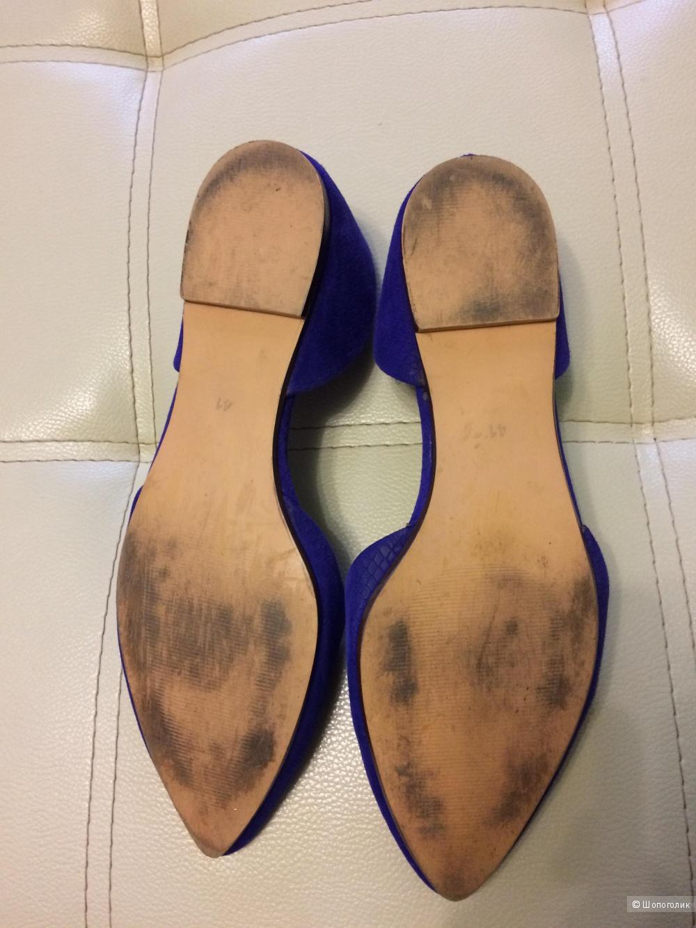 Туфли синие H&M 39-40 размер