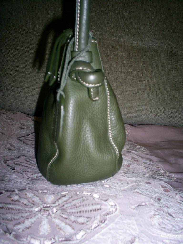 Кожаная сумка от Marks&Spencer .