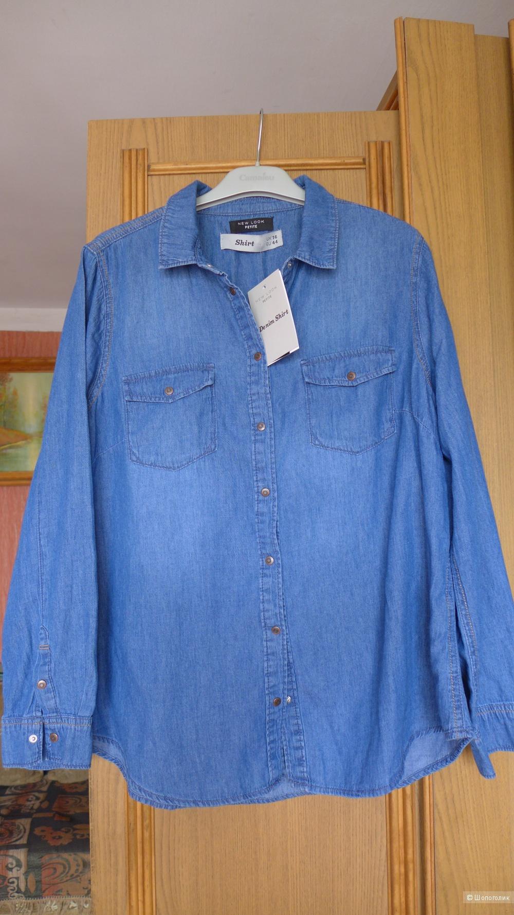 Джинсовая рубашка New Look 16 UK EU 44