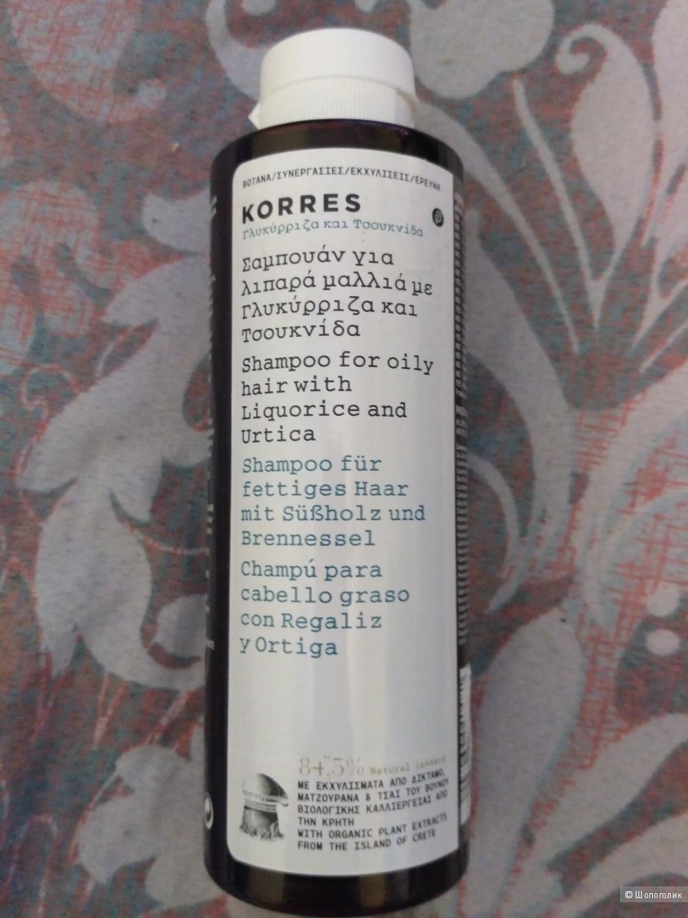 Шампунь для жирных волос KORRES, 250 мл