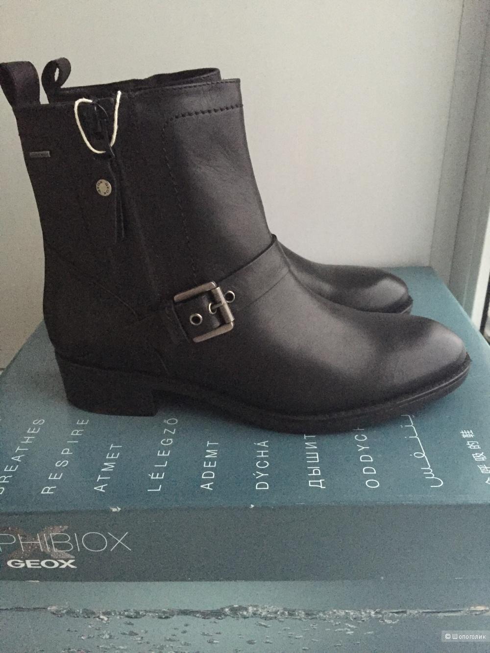 Новые кожаные демисезонные ботинки Geox Аmphibiox р. 37