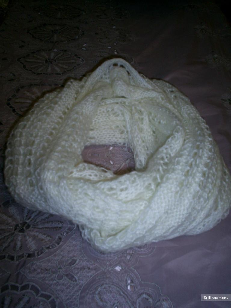 Ажурный шарф-снуд.