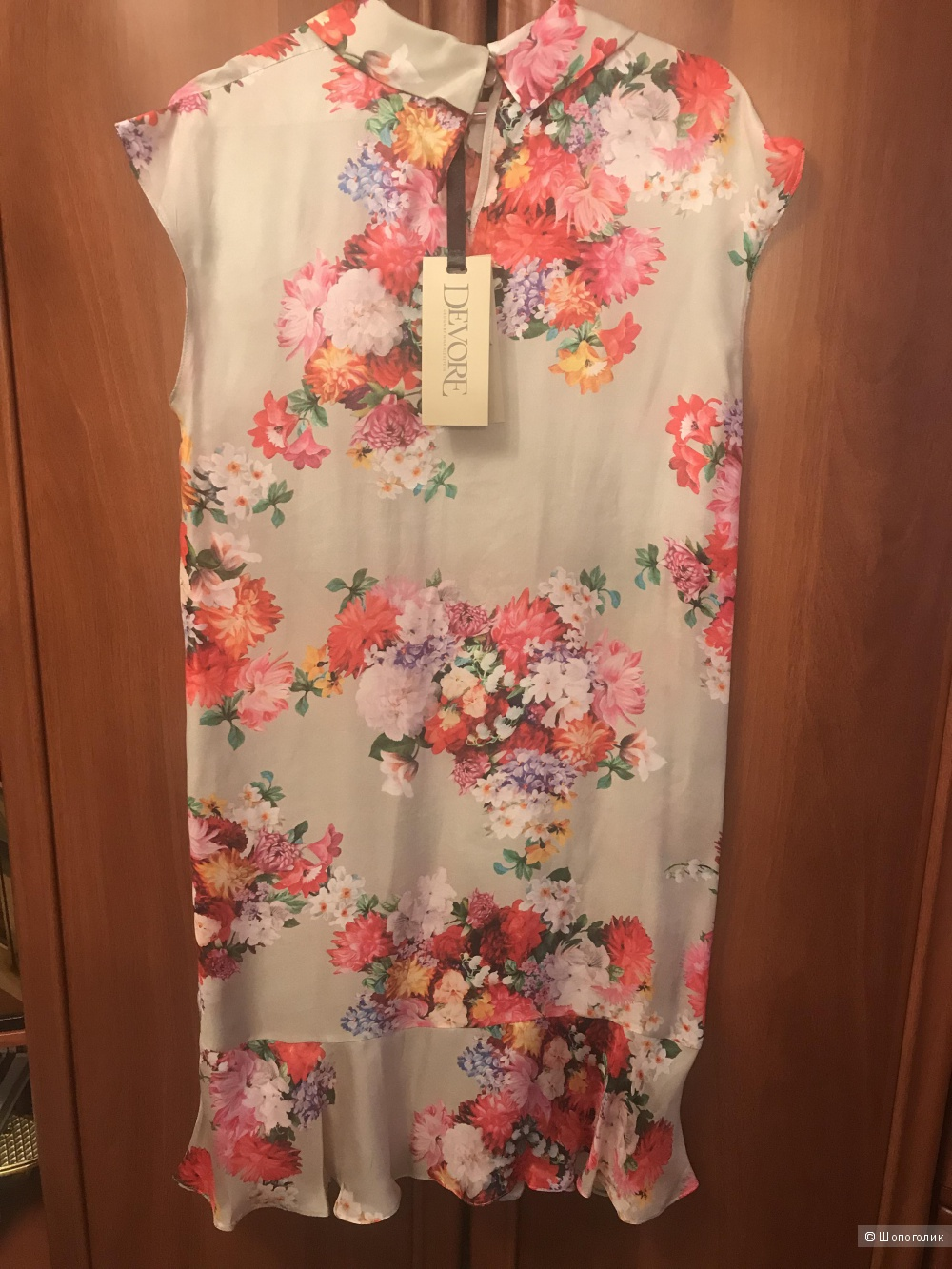 Легкое шелковое платье Devore 46 рос.размер