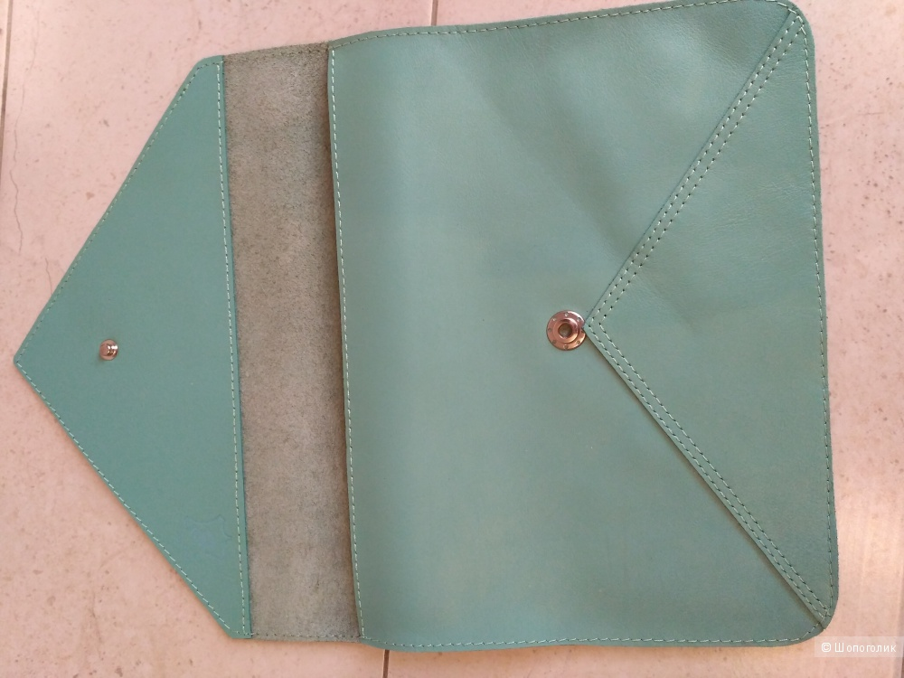Кожаный клатч-конверт, размер 20х25 см, GIL's Art дизайнерская мастерская