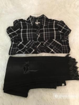Комплект рубашка Zara, размер S+ Джинсы Zara, размер S