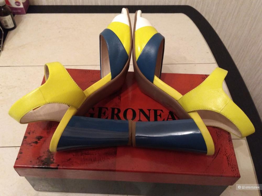 Босоножки кожаные, 38 размер, фирма GERONEA