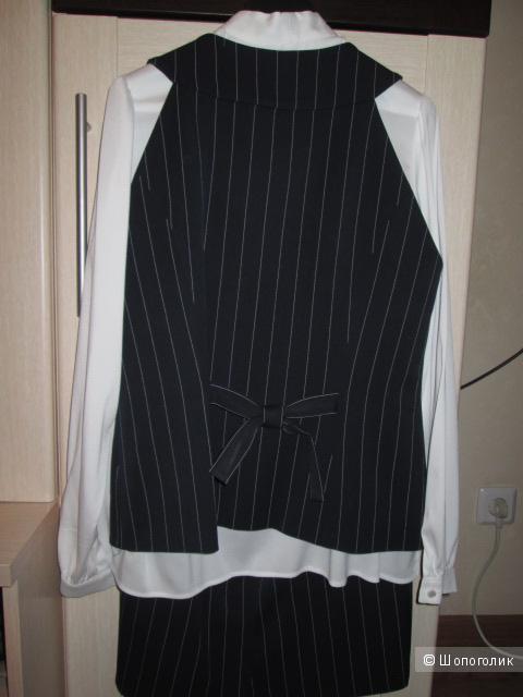Классический костюм-тройка LeNata, размер 46