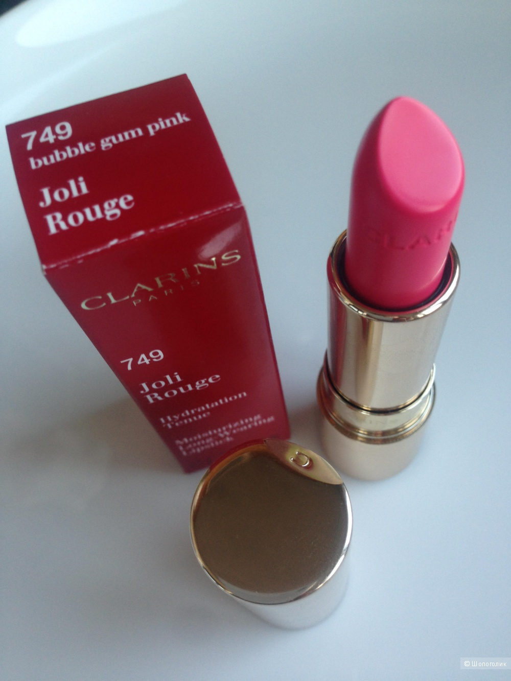Помада Clarins Joli Rouge 749 Bubble gum pink