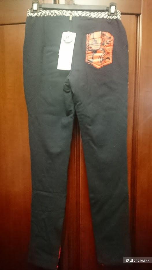 Пуховые штаны C.L.J. красные, размер китайский XL