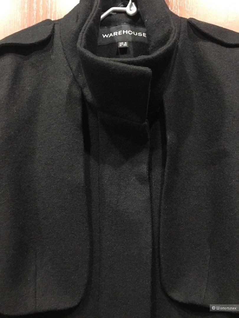 Полушерстяное пальто Warehouse Uk8