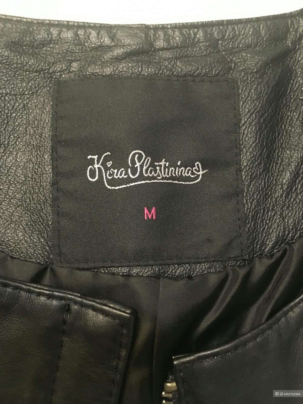 Кожаная куртка болеро от Киры Пластинининой. Размер M.