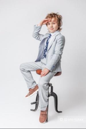 Choupette. Детские классические брюки-55% лен. размер 140.