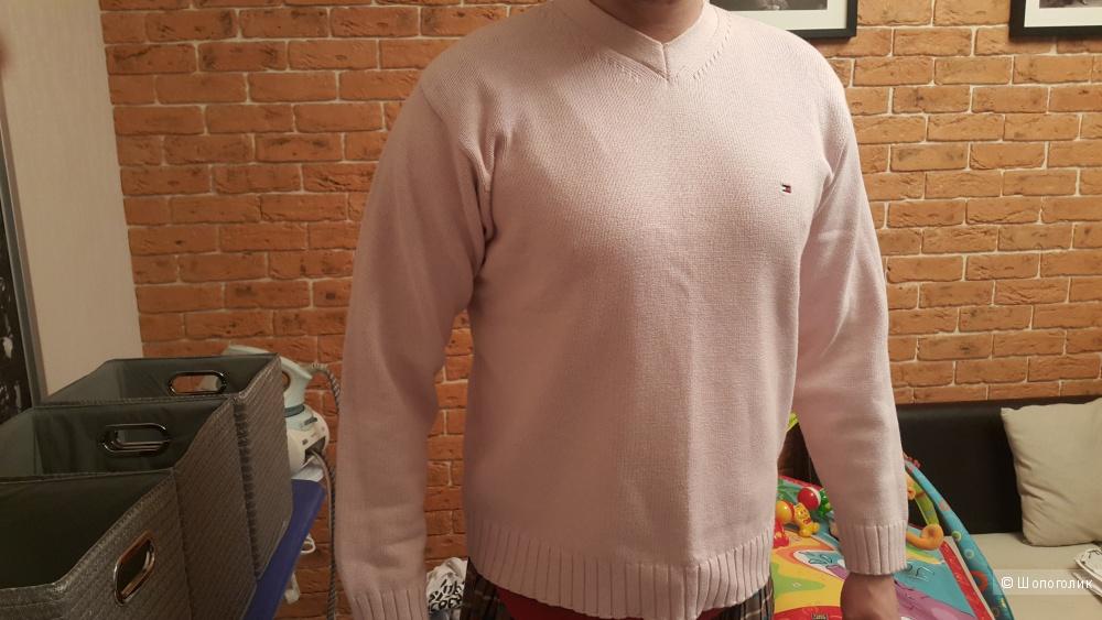 Розовый свитер Tommy Hilfiger, 50 размер