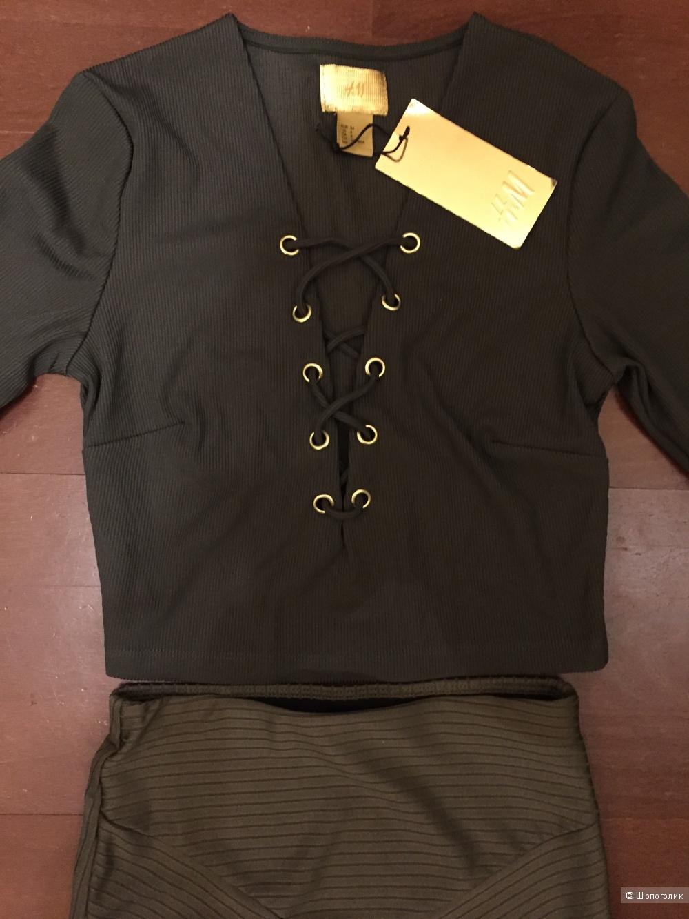 Комплект из топа и юбки H&M XS