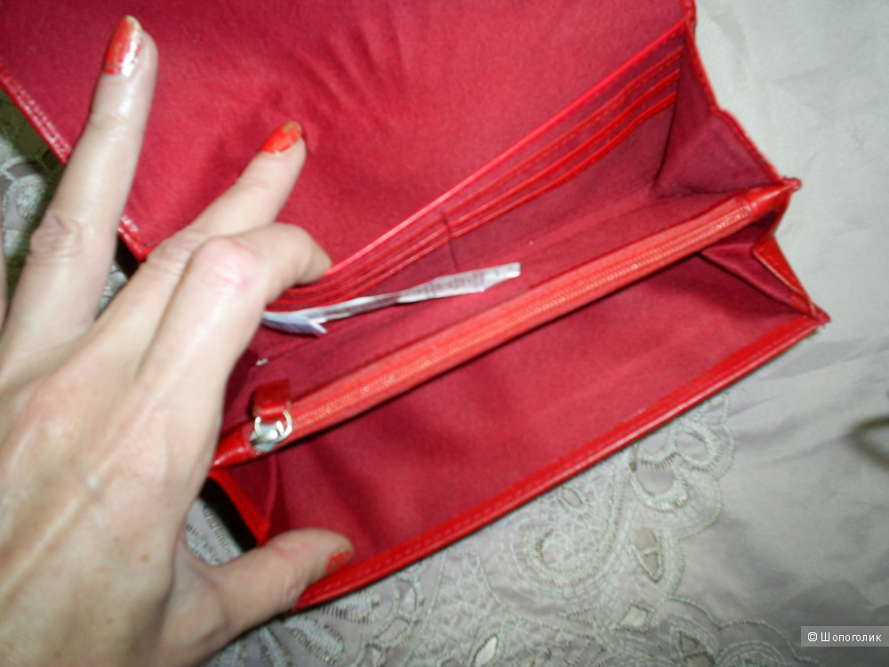 Кожаный кошелек от M&S.