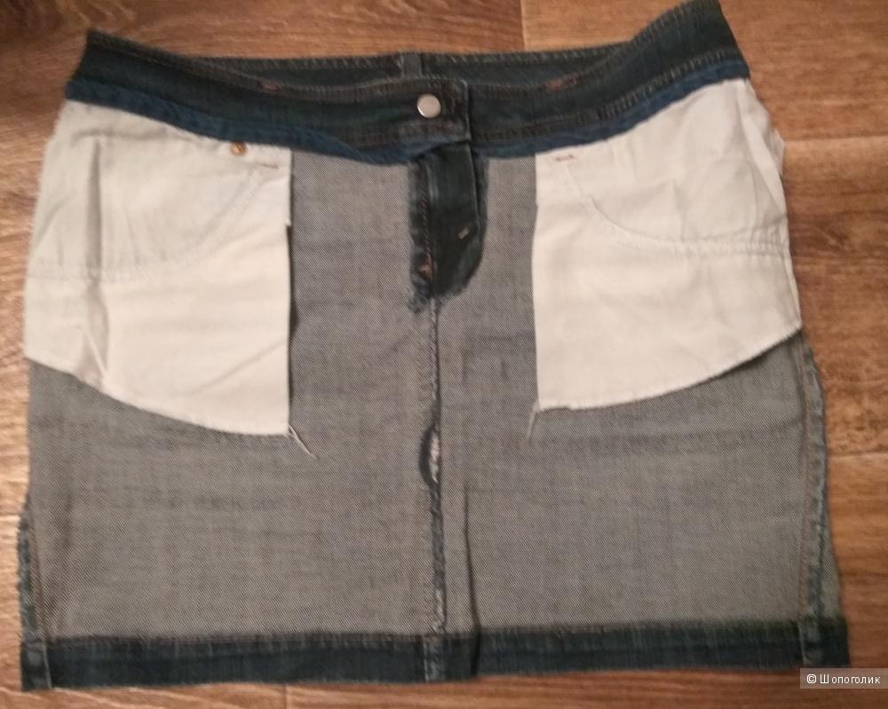 Джинсовая юбка от Sisley, размер 44-46