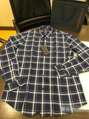 Мужская рубашка Trussardi Jeans, размер 43 ( XL )