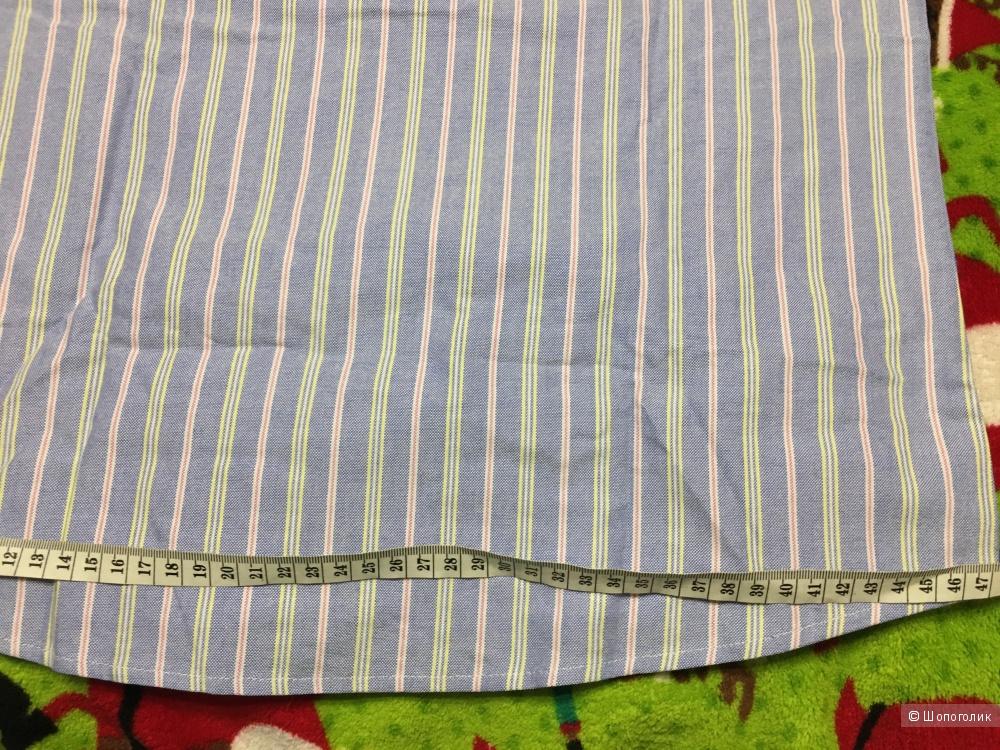 Детская рубашка с коротким рукавом, размер М, на 14-15 лет.