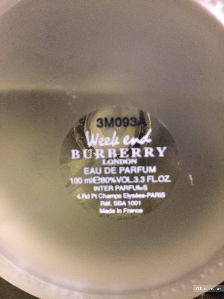 Парфюмированная вода Burberry Week End 100 ml