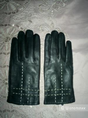 Кожаные перчатки р 8.