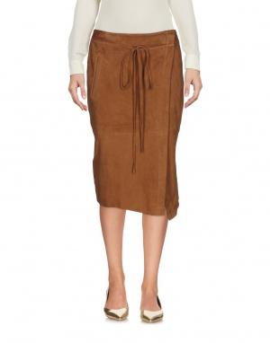 Замшевая юбка с запахом STEFANEL, M (Международный Размер).