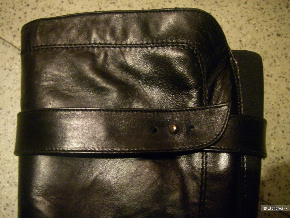 Зимние кожаные сапоги, Gino Rossi, Италия, размер 39
