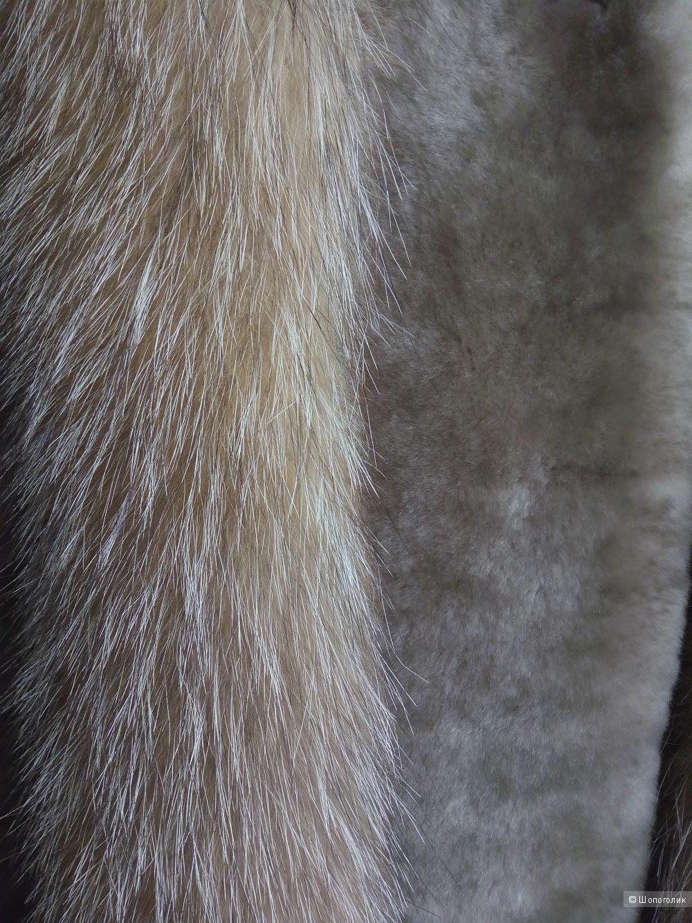 Шуба мутоновая (полушубок), 44-46