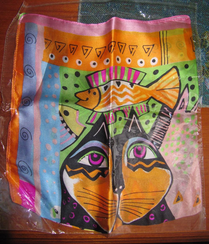 Шёлковый платок 51х53см