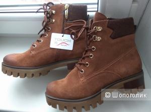 Замшевые ботинки Tamaris, на русский р-р 37-37,5