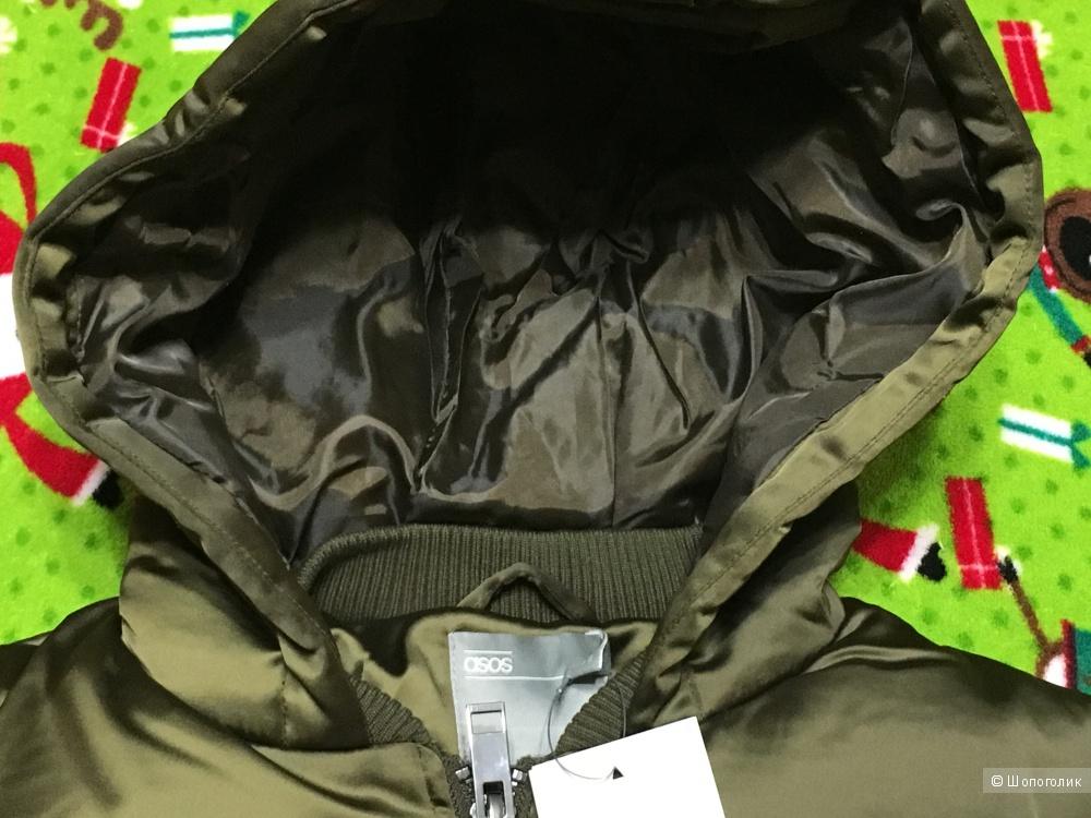 Длинное дутое пальто Asos, размер 42-44, на рос. 48-50