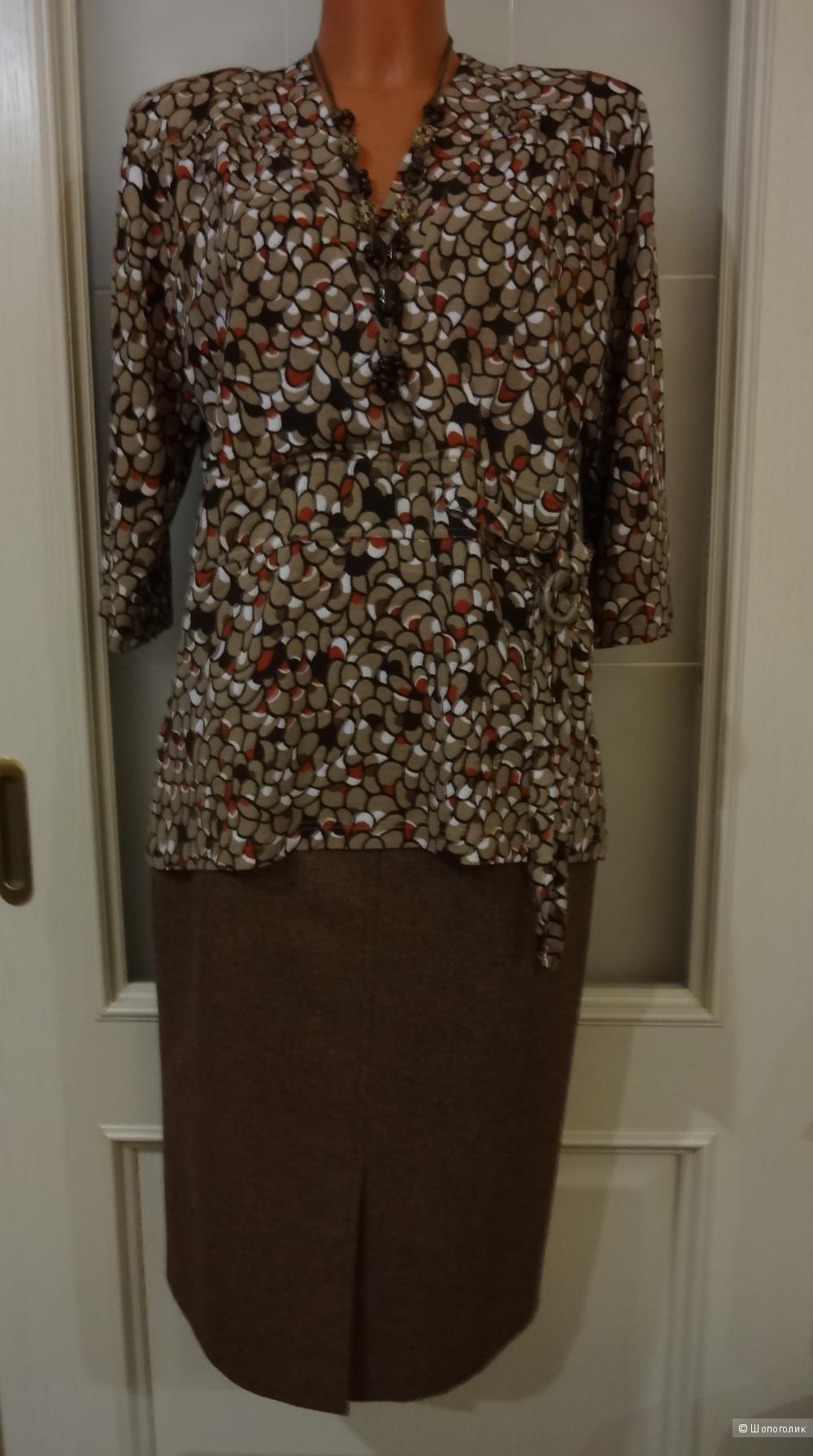 Блуза с запахом Victor, размер XXL