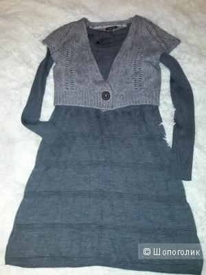 Жакет-болеро Massimo Dutti и платье Concept club, размер 44-46