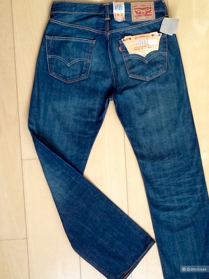 Мужские джинсы LEVI'S 501,размер W 34 L 32