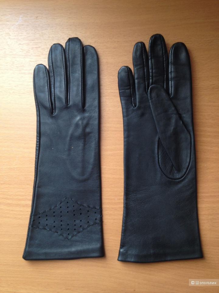 Перчатки кожаные женские, размер производителя 7