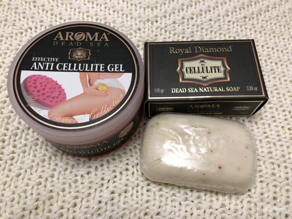 Антицеллюлитный гель 250 мл + Антицеллюлитное мыло 110 гр, Aroma Dead Sea