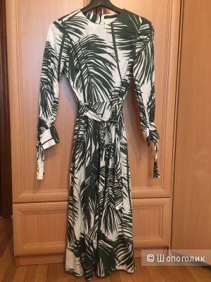 Хлопковое платье Zara размер XS
