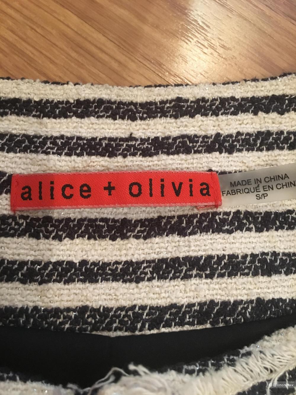 Твидовый жакет Alice+Olivia, размер S