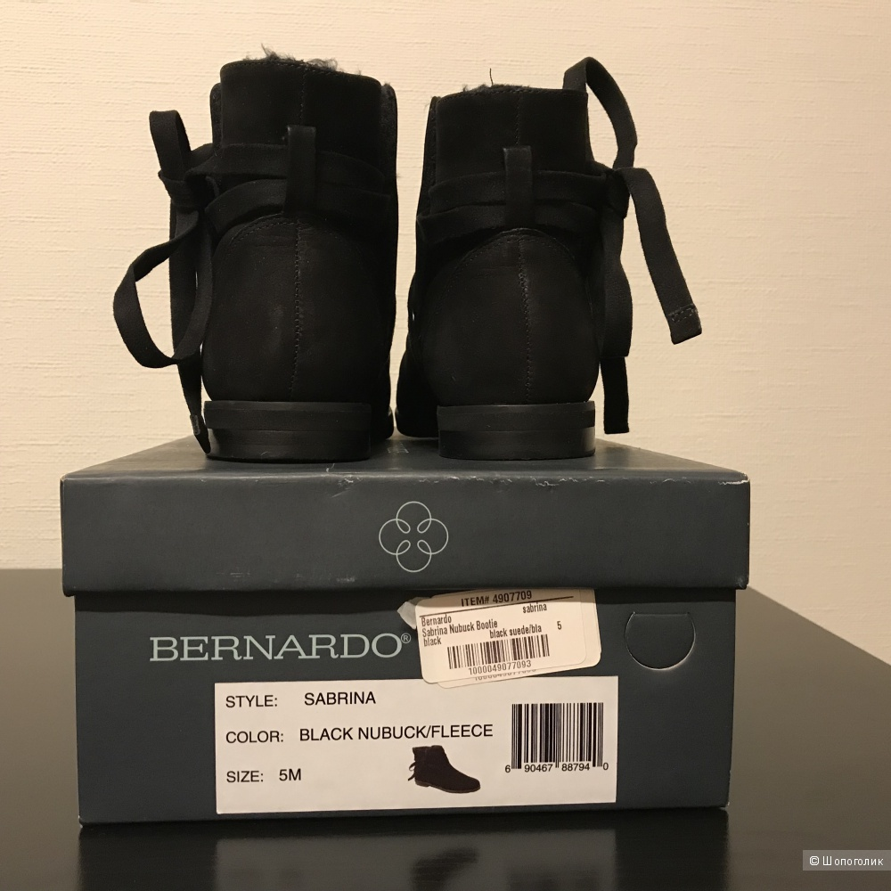Ботинки Bernardo Sabrina Nubuck Bootie размер 35 (34)