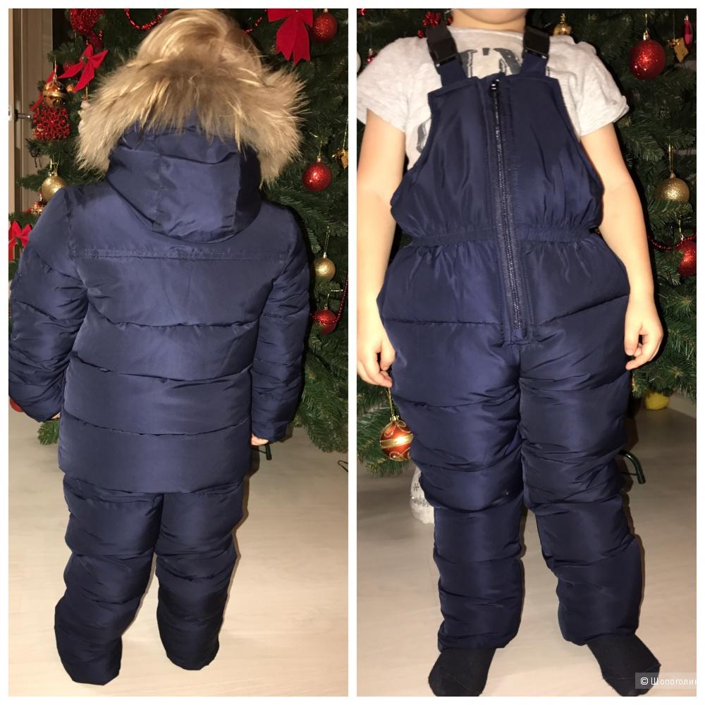 Зимний комплект (полукомбенизон и куртка) рост 96-104