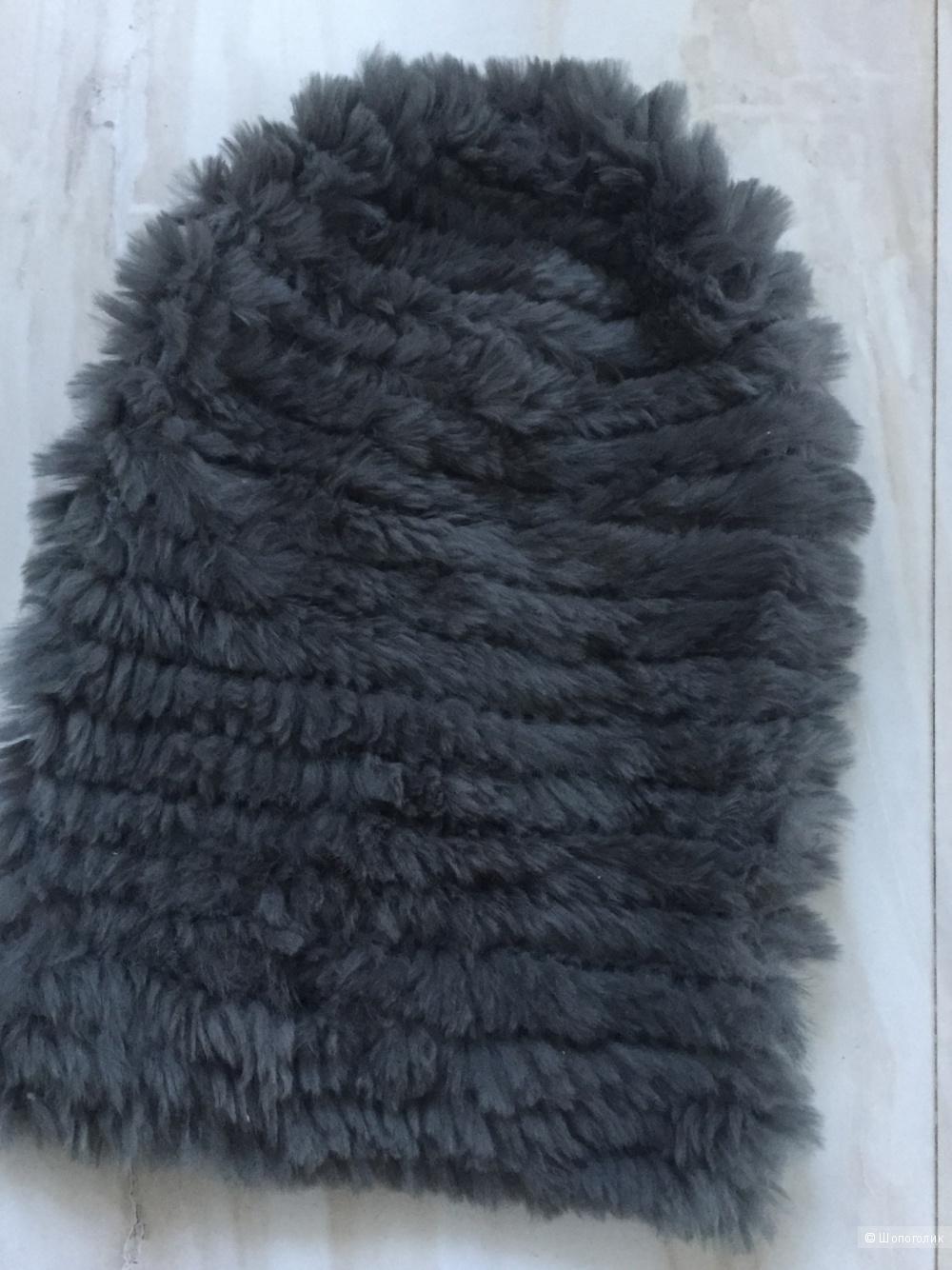 Шапка из вязанного кролика AirField, размер L