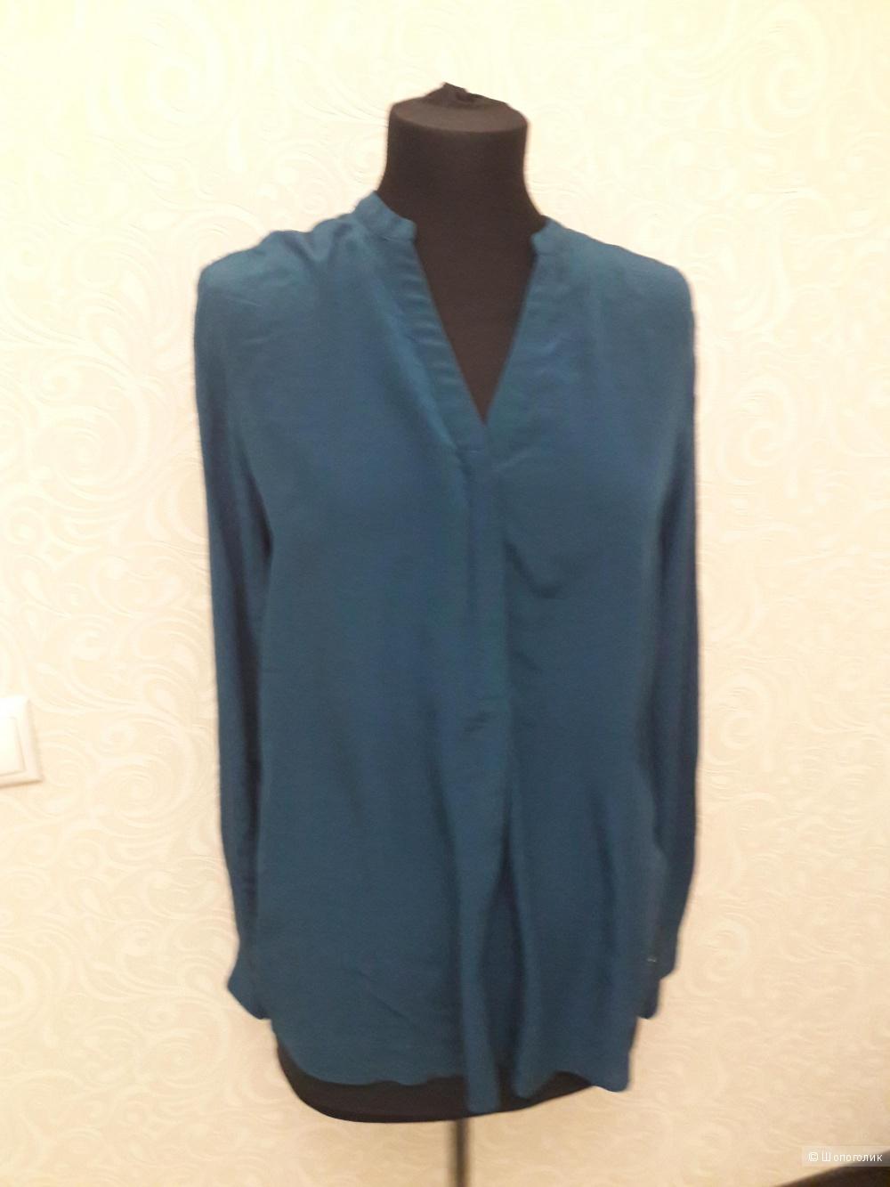 TOMMY HILFIGER: шелковая блузка, классика, 8