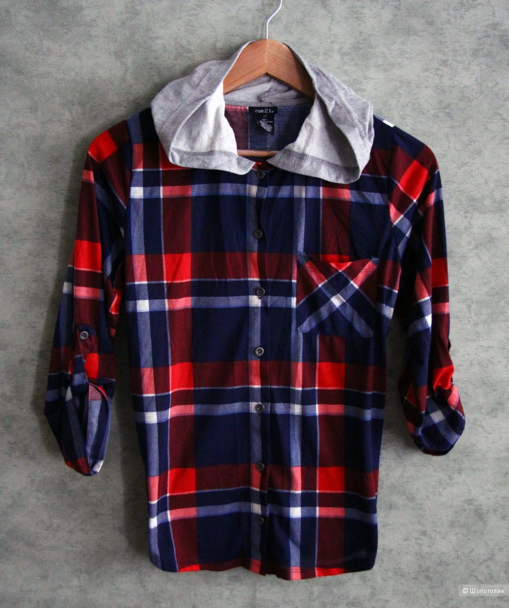 Рубашка с капюшоном S