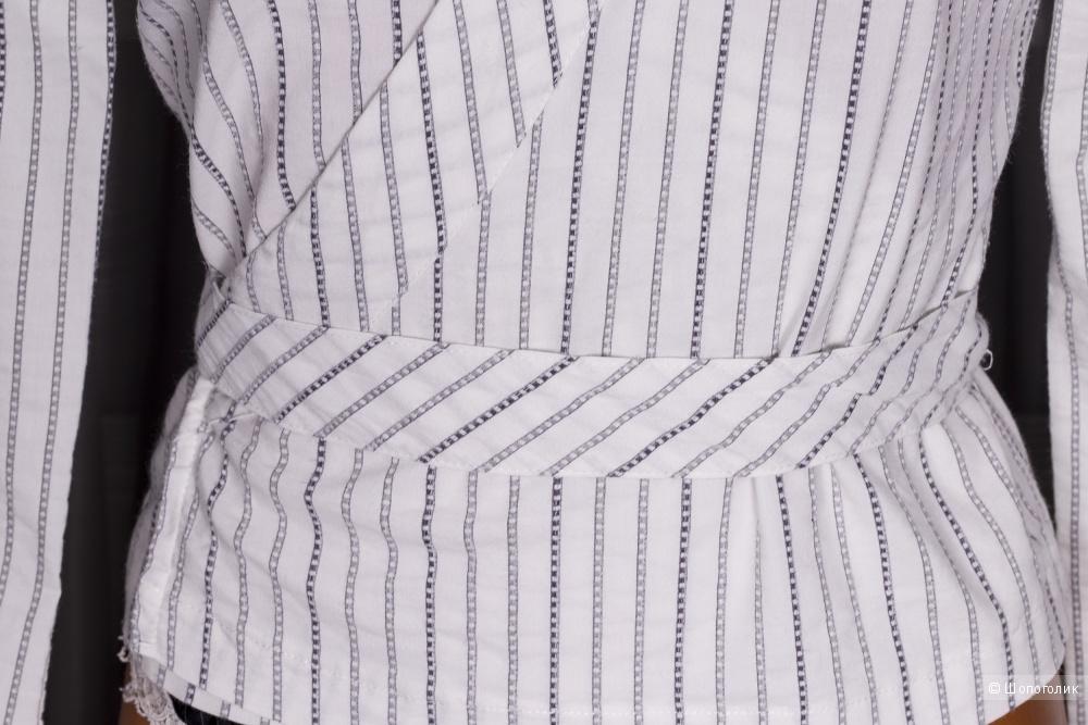 Блузка/рубашка  с запахом, размер 44-46.
